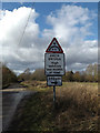TM1176 : Roadsign on Mellis Road by Adrian Cable