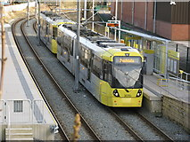 SD9311 : Newhey:  Metrolink station by Dr Neil Clifton