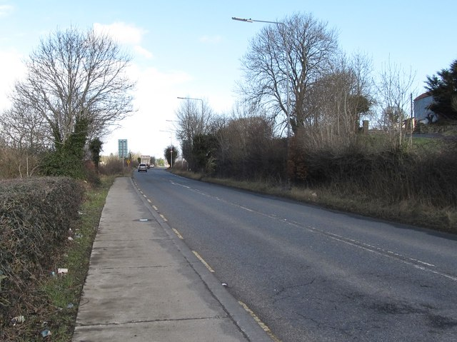 View due north along the R132 (Dublin Road) in the Townland of Carrickcarnan