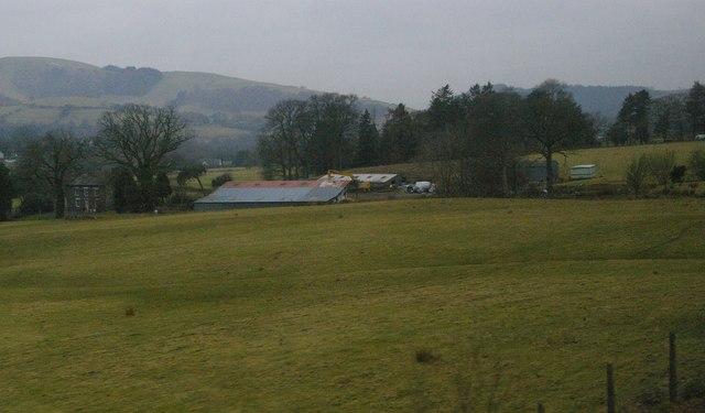 Coedcae, east of Llanbrynmair, from the railway