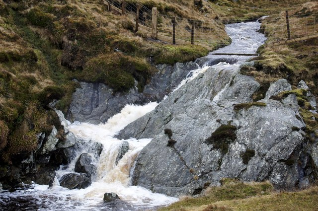 Waterfall on the Burn of Skaw