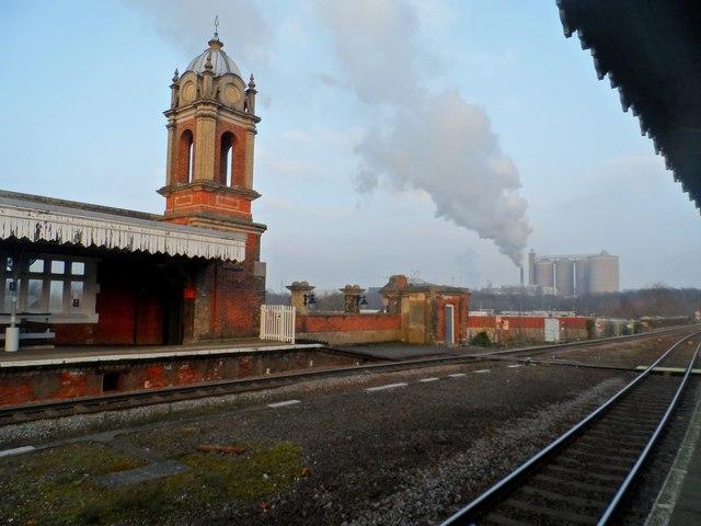 Northgate Railway station, Bury St Edmunds and sugar refinery