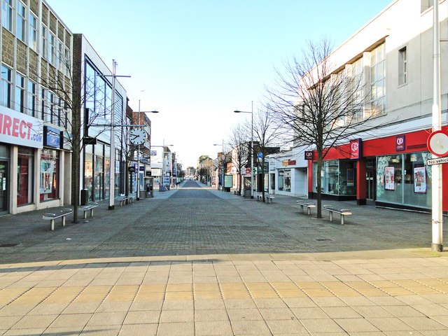 London Road North, the main shopping centre
