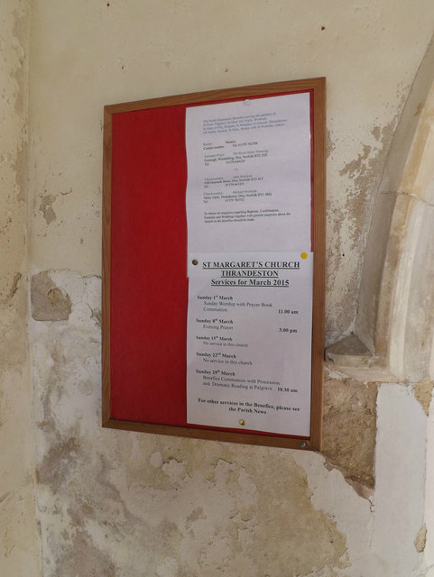Notice Board at St.Margaret's Church