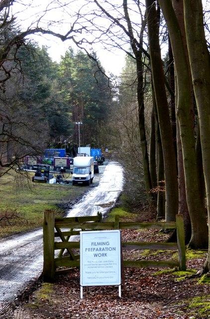 Vans & signs left after filming
