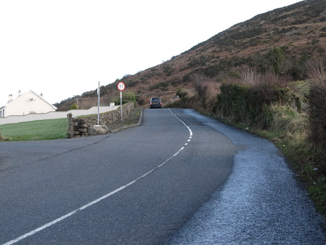 The Ferryhill Road climbing the lower slopes of Edentubber Mountain