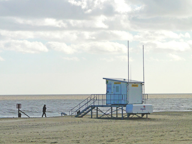 Lifeguard station on the south beach by Adrian S Pye