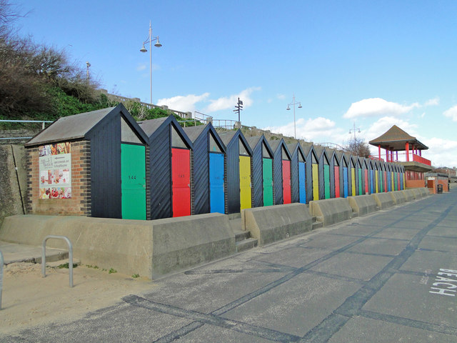 Colourful bathing huts by Adrian S Pye