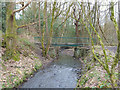 SD5307 : Footbridge over River Douglas near Gathurst by Gary Rogers