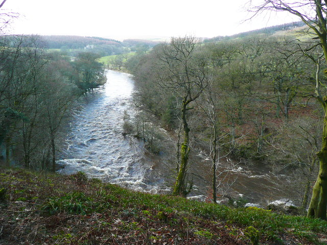 The River Wharfe from the Pembroke Seat viewpoint