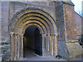 SO8454 : South entrance to Worcester Cathedral cloisters by Stephen Craven