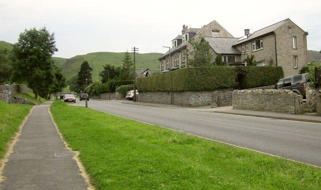 A6187 leaving Castleton