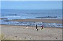 NZ2796 : On the beach, Druridge Bay by Jim Barton