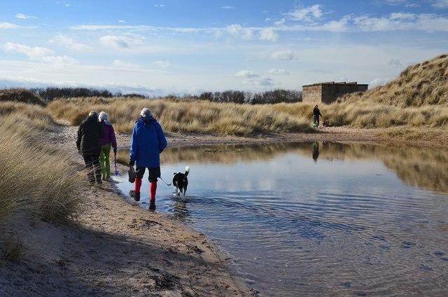 Pond in the dunes, Druridge Links