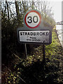 TM2374 : Stradbroke Village Name sign by Adrian Cable