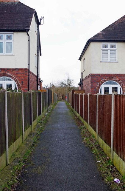 Start of footpath from Franche Road, Kidderminster