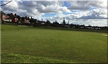 SJ8545 : Newcastle-under-Lyme: playing field between Lancaster Road and Parkestone Avenue by Jonathan Hutchins