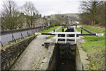 SE0511 : Lock 39E on the Huddersfield Narrow Canal by Bill Boaden