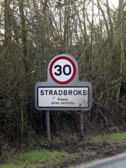 Stradbroke Village Name sign
