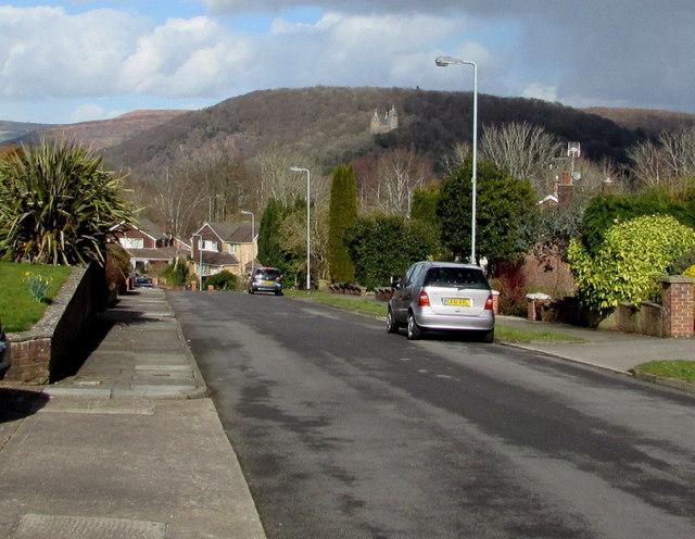 Ty Mynydd Close towards Castell Coch