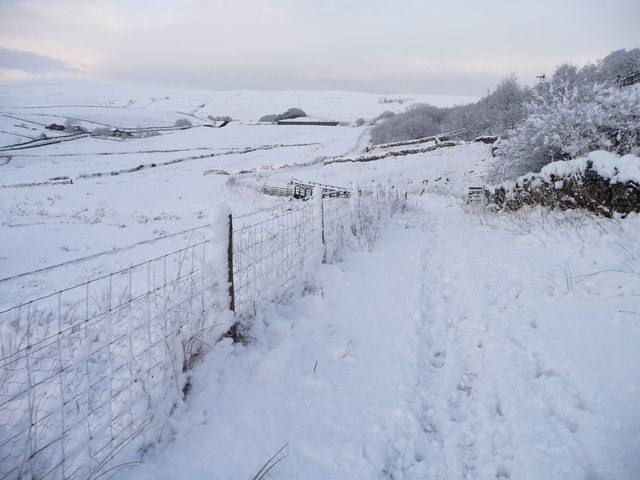 The Pennine Bridleway, approaching Mud Beck Gill