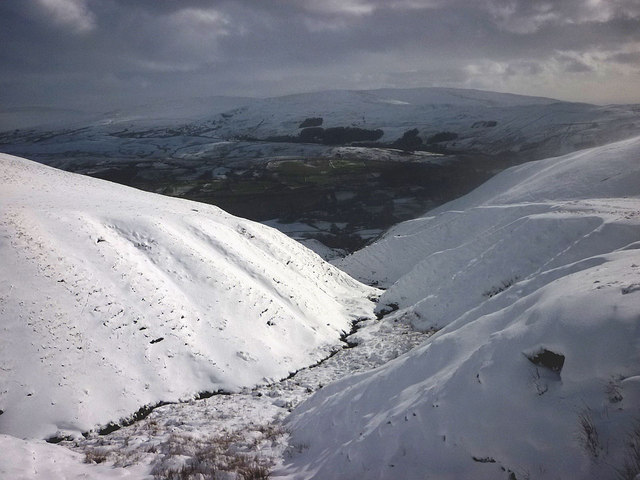 Snow in Settlebeck Gill