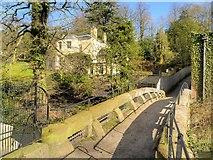 SJ8383 : Stone Pack-Horse Bridge at Quarry Bank Mill by David Dixon