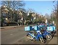 TQ1969 : Pizza Bikes on Kingston Hill by Des Blenkinsopp
