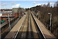 SJ4068 : The Wirral Line at Bache Railway Station by Jeff Buck