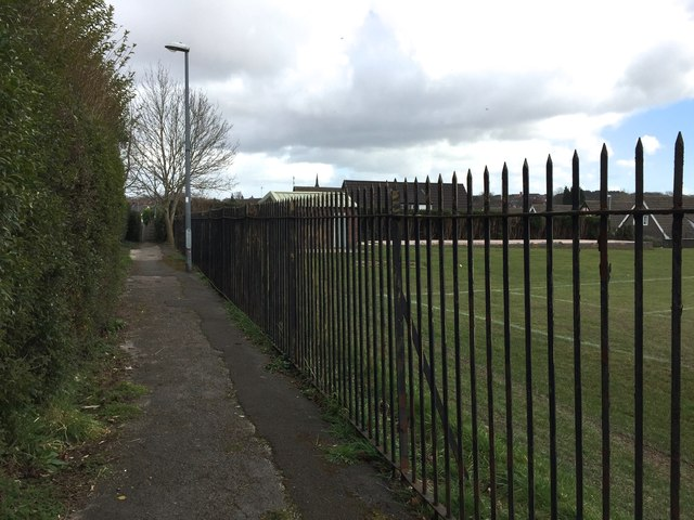 Newcastle-under-Lyme: path and playing field