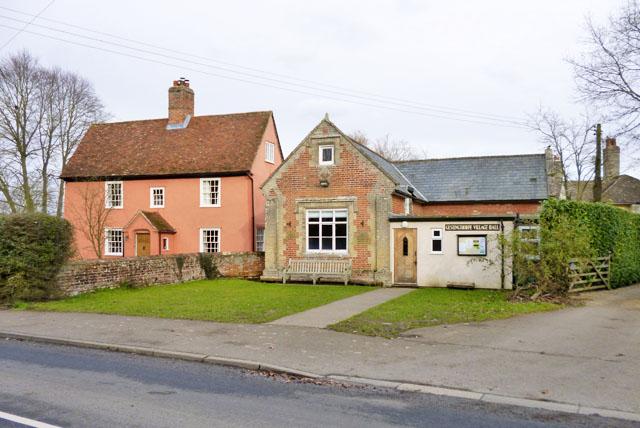 Ashley Cottage and Gestingthorpe village hall