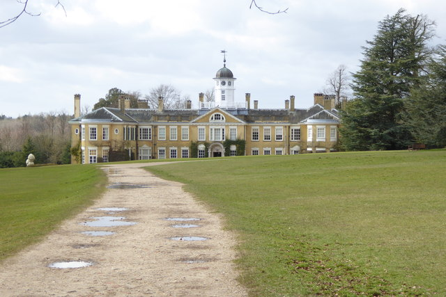 The front of Polesden Lacey House