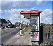 TQ2387 : Bus stop on Claremont Road by Marathon