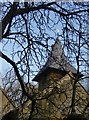 TQ1238 : Okewood church: west tower with shingled roof by Stefan Czapski