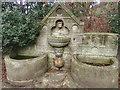 NZ7418 : Memorial Fountain and Troughs by Mick Garratt