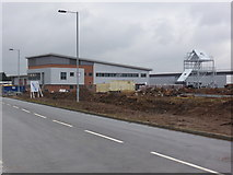 SO8555 : New fire station - Worcester by Chris Allen