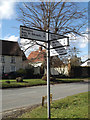 TM0477 : Roadsign on Churchway by Adrian Cable
