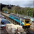 ST1380 : Two trains at Radyr railway station, Cardiff by Jaggery