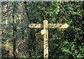 SX7988 : Signpost, Teign valley by Derek Harper