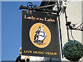 TM5292 : Lady of the Lake pub sign by Adrian S Pye