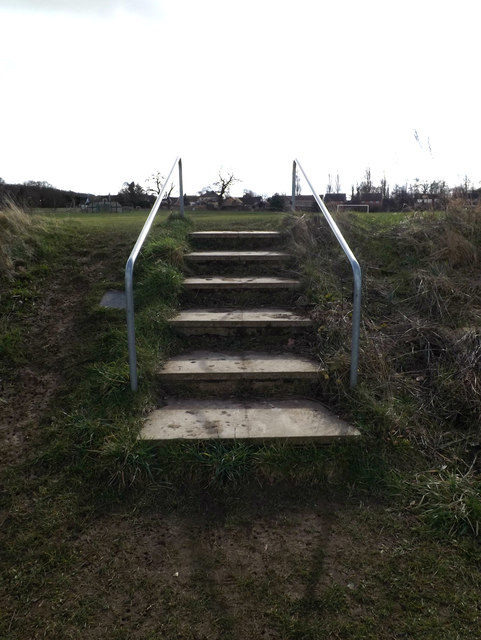 Steps to Redgrave Cricket Ground