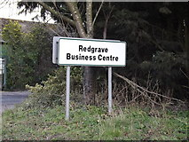 TM0478 : Redgrave Business Centre sign by Adrian Cable