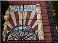 SS8594 : Pavement mosaic in Caerau by Jaggery