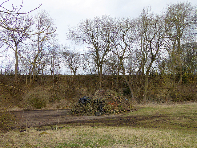 Abandoned quarry by Highside Road