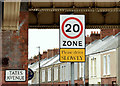 J3272 : 20 mph zone sign, Donegall Avenue, Belfast (March 2015) by Albert Bridge