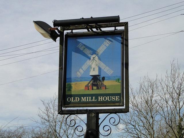 Old Mill House public house, Saxtead, pub sign