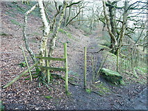 SE0722 : Gap-stile on Elland FP101 at Moor Bottom Lane by Humphrey Bolton