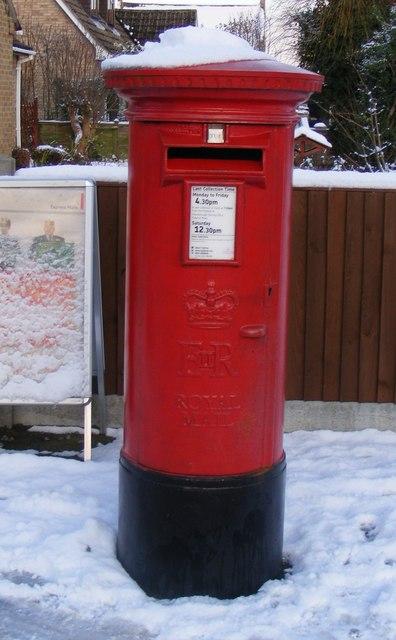 Pillar box at Glinton Post Office