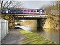 SD8132 : Leeds and Liverpool Canal, Railway Bridge near Rose Grove by David Dixon