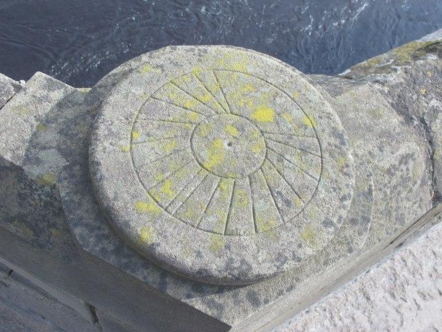 Sundial on Corbridge Bridge
